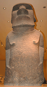 Solitary Easter Island style Moai spotted in British Museum, image taken from Web