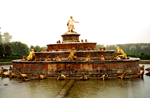 Latona Fountain, shot on very rainy day in Versailles, France, by Jim McPherson in 2004