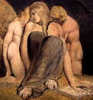 Detail of a painting by William Blake, taken from a postcard from the National Gallery of Scotland in Edinburgh, 2003