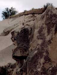 Wing-headed Cliff Face, photo taken in Cappadocia by Jim McPherson, 2003