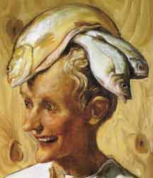 "John Currin's ""Moroccan"" (2001), scanned in from a postcard bought in Paris 2004; suggestive of Fisherowoman"