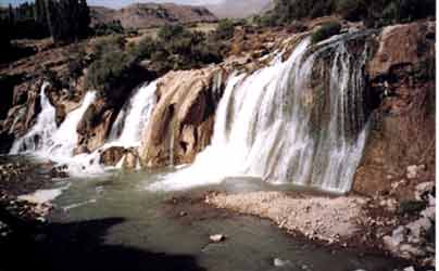 A waterfall spotted in Easter Turkey, photo by Jim McPherson, 2003