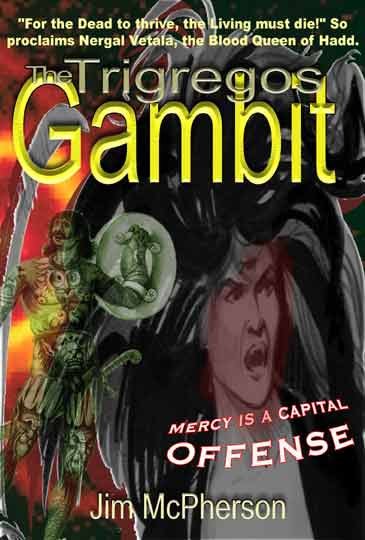 Cover for The Trigregos Gambit, prepared by Jim McPherson, 2003