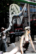 Image of a wraith coming out of a woman, used to suggest Wilderwitch's soul self, shot in London, England, by Jim McPherson, 2014