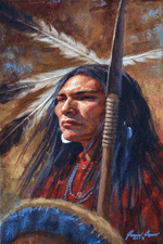 Cheyenne Warrior's Gaze, painting by James Ayer, 2013, taken from Web