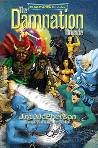 Front cover of The Damnation Brigade, artwork by Ian Bateson, retouching by Chris Chuckry 2012