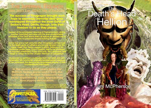 Collages for the cover to the two mini-novels prepared by Jim McPherson, 2010/11