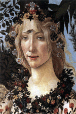 Botticelli's Primavera with a third eye, representing Flowery Anthea