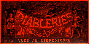 box top of stereoscopic diableries, image scanned in from FT346
