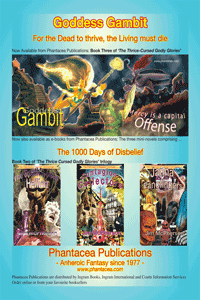 Ad for Gambit and e-versions of 1000 mini-novels, prepared by Jim McPherson, 2012
