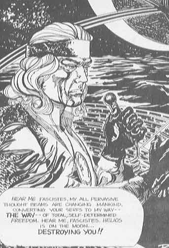 Helios announcing to the world that he was taking over, from pH-3 as drawn by Richard Sandoval in 1978