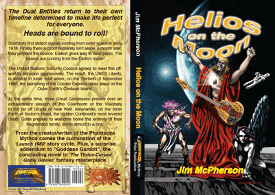 Covers for Helios on Moon print edition, artwork by Ricardo Sandoval, 2014