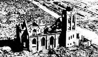 A church in Hiroshima after the A-Bombing
