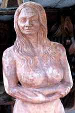 Wooden sculpture spotted and shot in Puerto Morelos by Jim McPherson, 2004