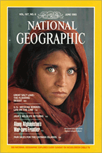 National Geographic Cover for June 1985,  image taken from Web