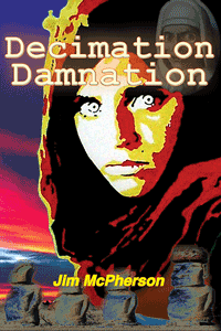Tentative cover for DecDam using Afghan Girl photo montage shot in Vienna by Jim McPherson, in 2010